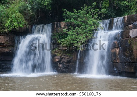 Kang Sopa Waterfall in Tungsalanglung National Park in Thailand.