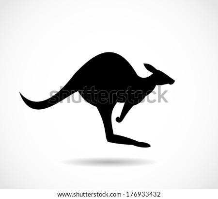 Kangaroo icon  - stock photo