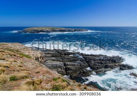 Kangaroo Island Coast Line - stock photo