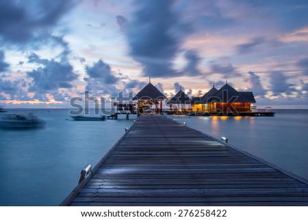 Kani Island, Maldives April 2015. - stock photo