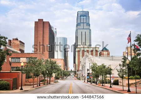 Kansas City, Missouri - city in the United States. Downtown skyline.