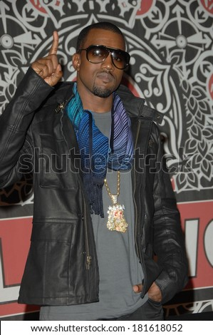 Kanye West at in-store appearance for Kanye West Album Signing for GRADUATION, Virgin Megastore on Hollywood Boulevard, Los Angeles, CA, September 13, 2007 - stock photo