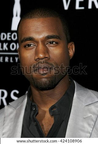 Kanye West at the Rodeo Drive Walk Of Style Award honoring Gianni and Donatella Versace held at the Beverly Hills City Hall in Beverly Hills, USA on February 8, 2007. - stock photo
