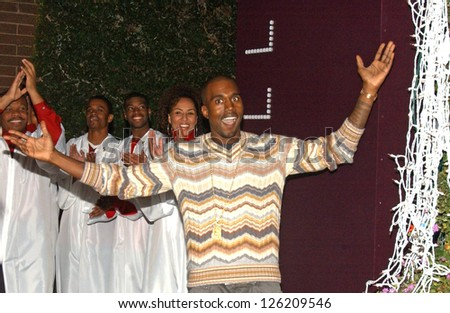 Kanye West Holiday Window Lighting to benefit the Kanye West Foundation Loop Dreams Program, Stella McCartney Boutique, Los Angeles, CA, December 5, 2006. - stock photo
