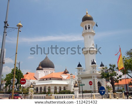 Kapitan Keling Mosque in George Town, Penang, Malaysia - stock photo
