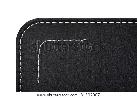 Kapron fabric with stitches of a white thread - stock photo