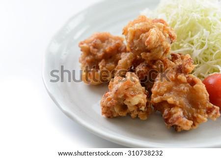 karaage japanese food - stock photo