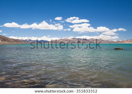 Karakul Lake in Pamir Mountains, Gorno-Badakhshan Autonomous Region, Tajikistan