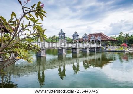 Karangasem water temple palace in Bali, Indonesia - stock photo