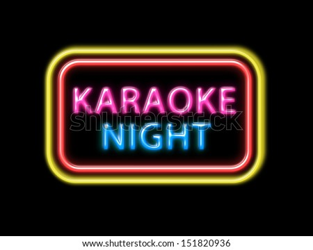 Karaoke Karaoke night colorful neon