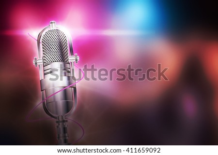 Karaoke Pink Background - stock photo