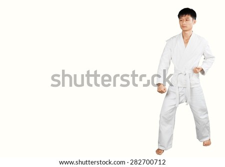 Karate, Child, Martial Arts. - stock photo