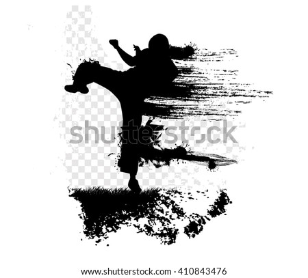 Karate illustration - stock photo