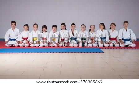 karate kids - stock photo
