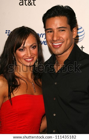 Karina Smirnoff and Mario Lopez  at the Launch Party for the BlackBerry Curve hosted by AT and T. Forbeslife Penthouse Suite, Beverly Hills, CA. 05-31-07 - stock photo