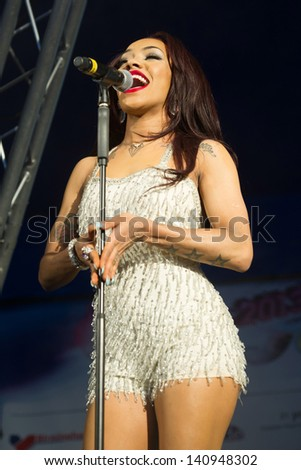 Karis Anderson of Stooshe performs on the main stage on day 1 of Gay Pride in Birmingham. 26/05/2013
