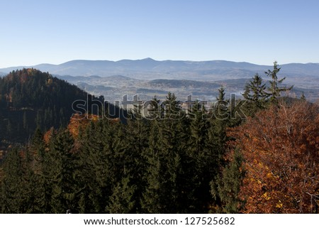 Karkonosze panorama - stock photo