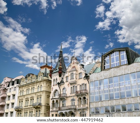 Karlovy Vary (Carlsbad) -- famous spa city in western Bohemia, very popular tourist destination in Czech Republic