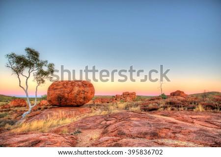 Karlu Karlu - Devils Marbles in outback Australia - stock photo