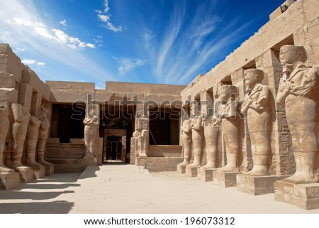 Karnak Temple in Luxor  - stock photo