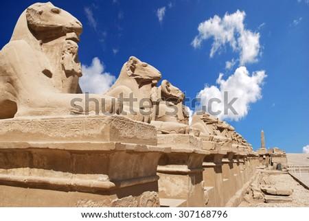 Karnak Temple in Luxor  - stock photo