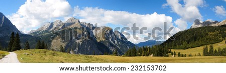 Karwendel mountain in Austria
