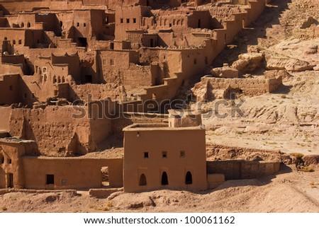 Kasbah Ait ben Haddou in Morocco - stock photo