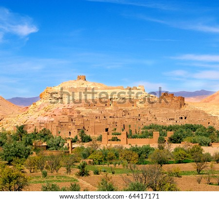 Kasbah Ait Benhaddou.Unesco heritage - stock photo
