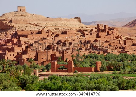 Kasbah of Ait Benhaddou, Morocco  - stock photo