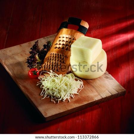 kashkaval cheese - stock photo