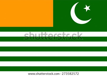 kashmir country flag russia independent region symbol - stock photo