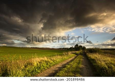 Kashubia, Poland/ Stormy day. - stock photo