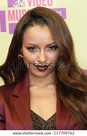 Kat Graham at the 2012 Video Music Awards Arrivals, Staples Center, Los Angeles, CA 09-06-12 - stock photo