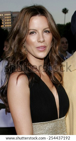 "Kate Beckinsale attends the Los Angeles Premiere of ""Click"" held at the Mann's Village Theater in Westwood, California on June 14, 2006."