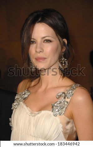 Kate Beckinsale, wearing an Alberta Ferretti gown, at LA Premiere of SNOW ANGELS, Egyptian Theatre, Los Angeles, CA, February 28, 2008