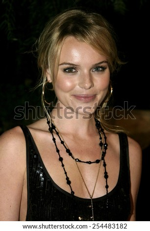Kate Bosworth attends the Global Green Pre-Oscar Party held at the Day After Club in Hollywood, California on February 24, 2005.  - stock photo
