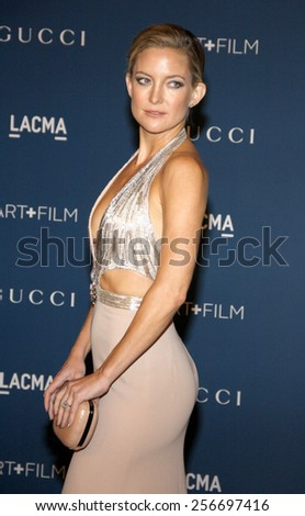 Kate Hudson at the LACMA 2013 Art + Film Gala Honoring Martin Scorsese And David Hockney held at the LACMA in Los Angeles on November 2, 2013 in Los Angeles, California.  - stock photo
