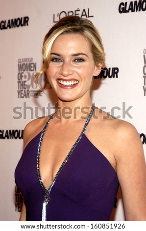 Kate Winslet at the GLAMOUR MAGAZINE 2004 WOMEN OF THE YEAR AWARDS at the American Museum of Natural History, NY November 8, 2004