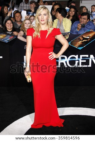 "Kate Winslet at the Los Angeles premiere of ""Divergent"" held at the Regency Bruin Theatre in Los Angeles, USA on March 18, 2014."