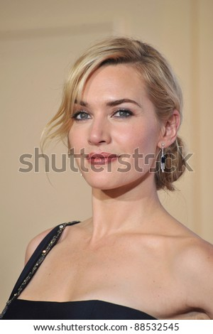 Kate Winslet at the 67th Golden Globe Awards at the Beverly Hilton Hotel. January 17, 2010  Beverly Hills, CA Picture: Paul Smith / Featureflash - stock photo