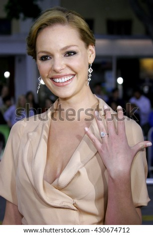Katherine Heigl at the Los Angeles premiere of 'Knocked Up' held at the Mann Village Theatre in Westwood, USA on May 21, 2007.