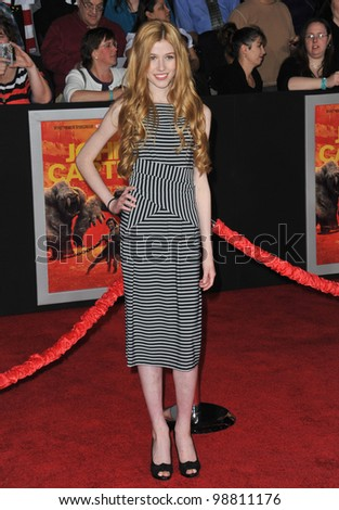 "Katherine McNamara at the world premiere of ""John Carter"" at the Regal Cinemas L.A. Live. February 22, 2012  Los Angeles, CA Picture: Paul Smith / Featureflash"