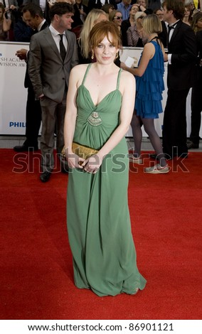 Katherine Parkinson arrives for the BAFTA TV Awards at the Grosvenor House Hotel, London. 22/05/2011  Picture by: Simon Burchell / Featureflash