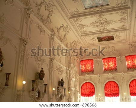 Katherine's Palace hall in St.Petersburg, Russia - stock photo