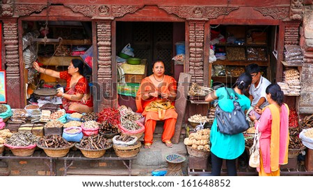 KATHMANDU, NEPAL - JUNE 2013: Everyday scene at Durbar Square