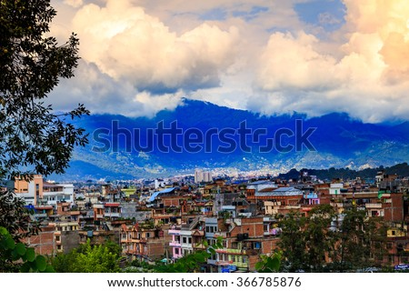 Kathmandu the capital of Nepal - stock photo