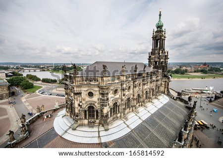 Katholische Hofkirche (Catholic Church of the Royal Court) Dresden. Germany  - stock photo