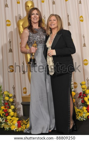 Kathryn Bigelow & Barbra Streisand at the 82nd Annual Academy Awards at the Kodak Theatre, Hollywood. March 7, 2010  Los Angeles, CA Picture: Paul Smith / Featureflash