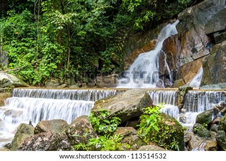Kathu Waterfall in Kathu District of Phuket - stock photo