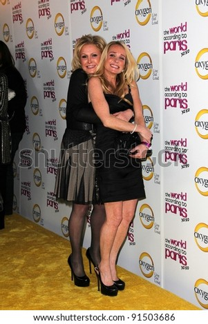 "Kathy Hilton, Kim Richards at ""The World According to Paris"" Premiere Party, Roosevelt Hotel, Hollywood, CA 05-17-11 - stock photo"